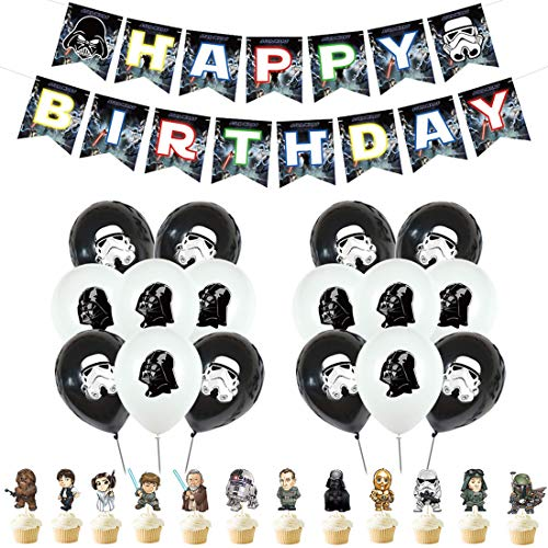 Star Wars globos para Decoración - YUESEN Star Wars para fiesta de cumpleaños, decoración de cumpleaños de Star Wars globos para decoración de baby shower