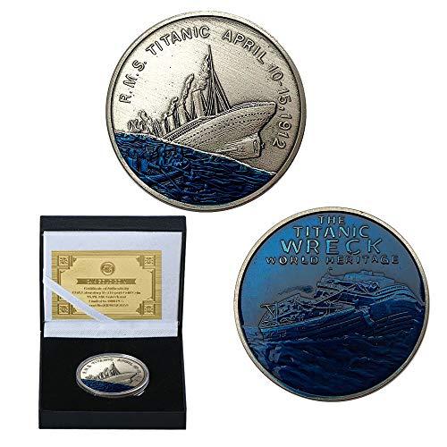 Titanic, Liebe, versunkene Schiff, Ocean Star, Gedenkmünzen, Vergoldet, Sammlung, Fantasieschiff, 1912