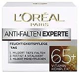 L'Oréal Paris Anti-Falten Experte Tagescreme 65+, Anti-Age Gesichtscreme mit Vitamin Komplex, mildert tiefere Falten, festigt und vitalisiert die Haut, 50ml