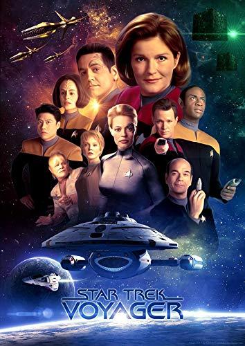 Star Trek Voyager – Filmposter – Beste Druck-Kunst-Reproduktion Qualität Wanddekoration Geschenk – A4 Poster (11,7/21,1 cm) – (30/21 cm) – Hochglanz-Fotopapier