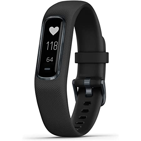 Garmin vivosmart 4, Activity and Fitness Tracker w/ Pulse Ox and Heart Rate Monitor, Black, Large Band