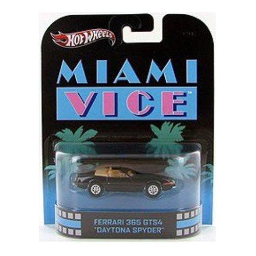 Hot Wheels Retro Miami Vice 1:55 Die Cast Car Ferrari 365 GTS4
