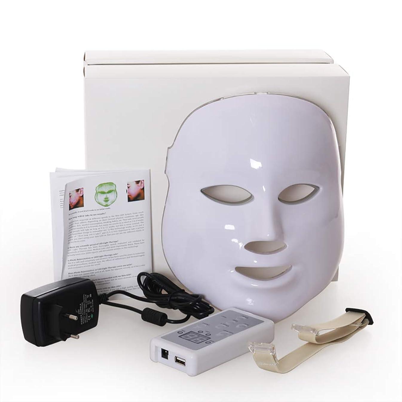 危険な入場料聴衆Led のマスク、7色はしわ、にきび及び健康な皮の若返りのコラーゲン、反老化の美のマスクのための軽い療法の顔のスキンケアのマスクを導きました