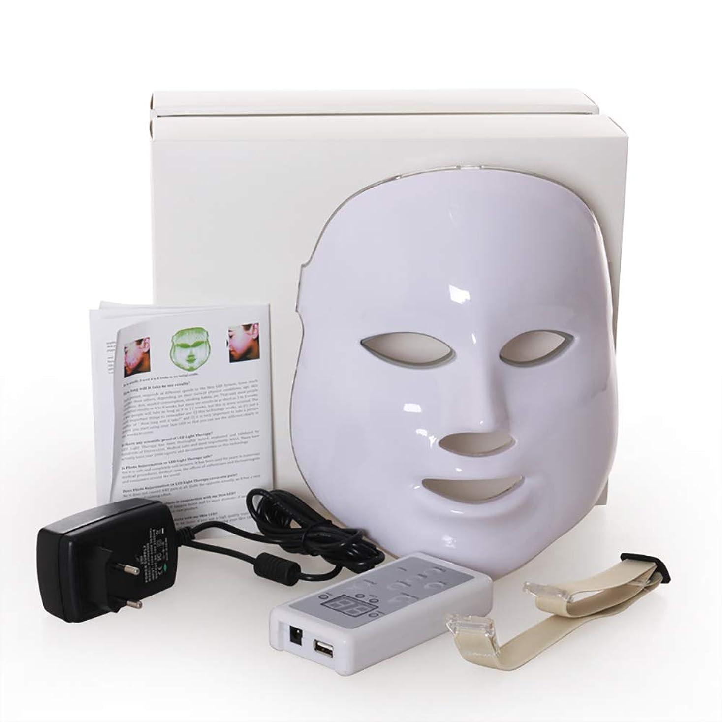活性化するエアコンカートLed のマスク、7色はしわ、にきび及び健康な皮の若返りのコラーゲン、反老化の美のマスクのための軽い療法の顔のスキンケアのマスクを導きました