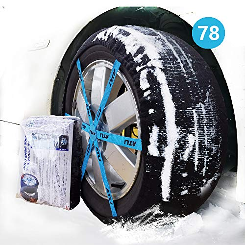 ATLI 2PC Anti-Skid Safety Ice Mud Tires Snow Chains Auto Snow Sock for Passenger Car (AT-FB78)
