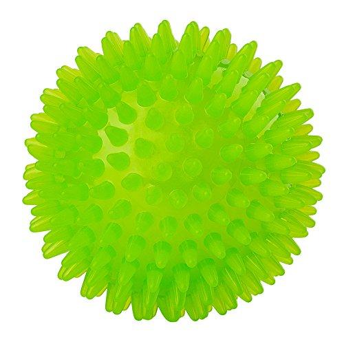 PUPWONG Hundeball Quietschend Hundespielzeug Kauen Spielzeug Quietschball Kauspielzeug für Große und Kleine Hunde, Kauen und Zahnreinigungs Ungiftig (L, Grün)