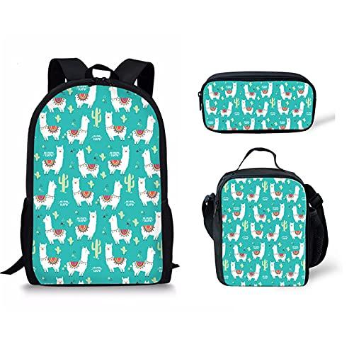 Pizding Eagle Student School Bag - Bolsa de almuerzo para estudiantes, Alpaca, Large, Mochila de a diario