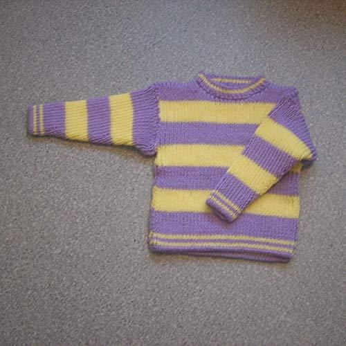 Handstrick-Pullover in Gr. 116