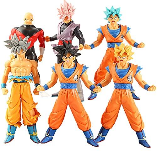 6Pcs / Set Dragon Ball Z Figur Anime Super Saiya DBZ Sohn Goku Jiren Modell Spielzeug 16-18Cm, Kakarotto PVC Desktop Ornamente Figma