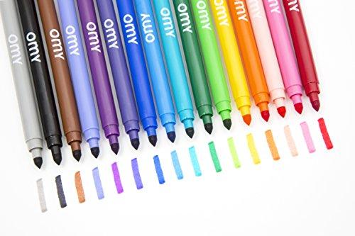 OMY feu201Boîte De 16Filzstifte Kunststoff Mehrfarbig 17x 4x 17cm