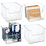mDesign Plastic Home Storage Organizer Bin for Cube Furniture Shelving in Office, Entryway, Closet, Cabinet,...