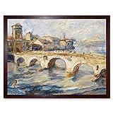 Littrow Ponte Pietra Bridge Verona Italy Painting Art Print