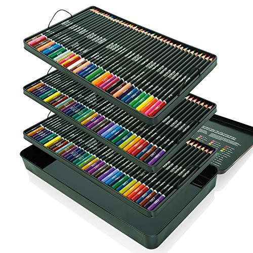 Artworx Premium Künstler-Buntstiftedose – 120 Farben Set – Perfekt für Erwachsenen-Malbücher, Studenten oder Kinder Schule Kunstbedarf