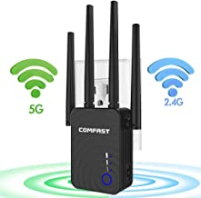 $39 Get 【Newest 2019】 Wireless WiFi Range Extender with 5GHz & 2.4GHz Dual Band Up to 1200Mbps High Speed WiFi Signal Booster Ideal for Home Office Gaming & HD Video Streaming Works Great with Any Routers