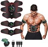 Moonssy EMS Electroestimulador Muscular Abdominales Estimulador Muscular Masajeador Eléctrico Cinturón EMS Estimulador Abdomen/Brazo/Piernas/Cintura Entrenador Muscular