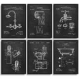 MONOKO® Poster Badezimmer Bilder - stilvolle Wandbilder