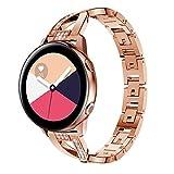HBNNBV Banda de Reloj de Acero Inoxidable de 20 mm Adecuado para Samsung Galaxy Watch Active 2 Strap Strap Bandas de muñeca Samsung Gear Sport S2 Watch Bands Cierre de reemplazo