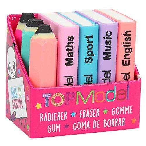 Depesche 8780 - Mini Radierer Set Topmodel Schulbücher und Stifte