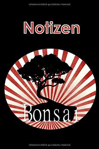 Notizen: Notizbuch mit Punktraster, ca. DIN A5, 120 Seiten, Motiv: Bonsai, Softcover