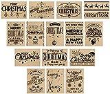 15 hochwertige Weihnachtskarten mit Umschlag – ein Set von Davom