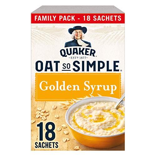 Quaker Oats So Simple Golden Syrup Avena Instantánea Microondas Con Sirope Dorado 650 g