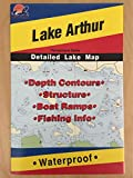 Lake Arthur (Pennsylvania) Detailed Fishing Map (A370)