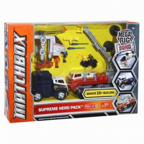 Matchbox Mega Rig Building System Supreme Hero Pack