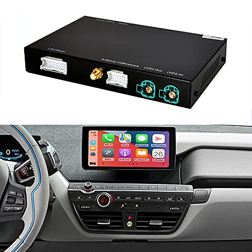 Road Top Wireless CarPlay Android Auto para BMW i3 I01 NBT System 2012-2017, con MirrorLink Autolink Airplay Function