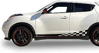 Bubbles Designs Decal Sticker Vinyl Side Sport Stripes Compatible with Nissan Juke 2010-2017 (Black)