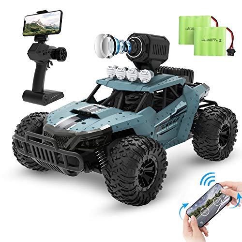 top 10 app controlled toys Remote control car DEERC DE36W RC car, 720P HD FPV camera, 1/16 scale remote control in the field …