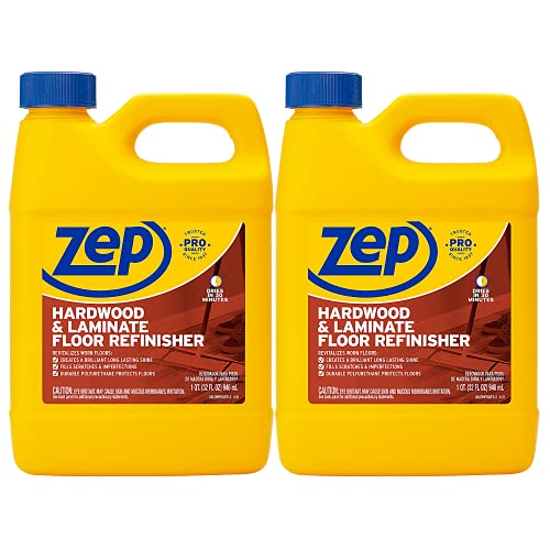 Zep Hardwood and Laminate Floor Refinisher 32 ounce ZUHFR32 (2-Pack) Fills In Scratches and Revitalizes Floors