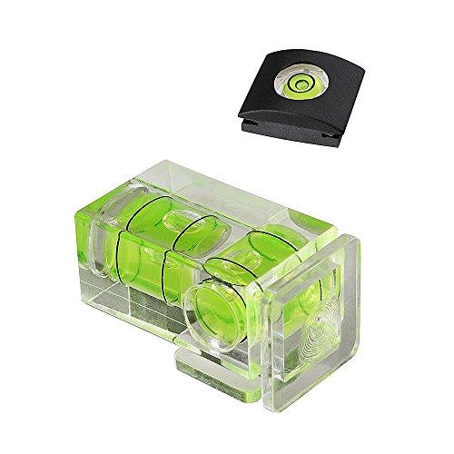 Kamera Wasserwaage Blitzschuh Wasserwaage Kamera Level Hot Shoe Level Blitzschuhabdeckung Standard-Schuhhalterung für Sony A6000 A6300 Canon Nikon Panasonic [Kombi-Pack - 2 Achsen und 1 Achse]