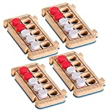 hand2mind Foam RekenRods Ten Frame Boards, Red and White Counters, Kindergarten Learning Games, Ten Frame Math Manipulatives, Counting Toys, Math Games (4 Ten Frames and 40 Math Counters)