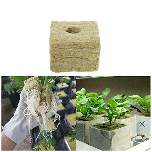 Kaikso-In Rockwool Blocks, 20 unidades de bandeja de cubos hidropónicos de lana de roca, para jardín al aire libre, invernadero, plantación de plantas de semillero