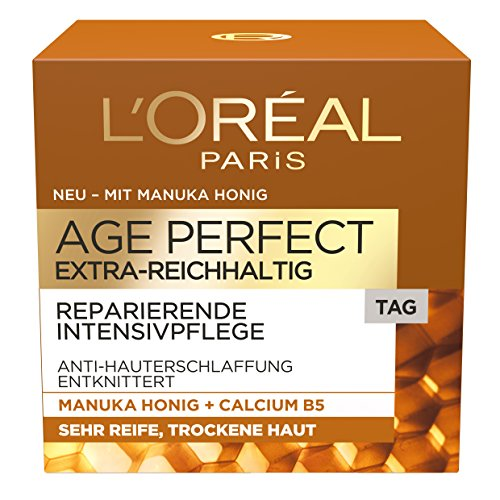 L'Oréal Paris extra reichhaltige Tagescreme für sehr trockene Haut, Age Perfect Manuka Honig...