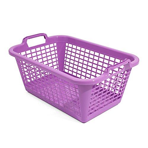 20L Wäschekorb Wäschebox von OKT violett Kunststoff Tragegriffe Sammelkorb Wäschesammler