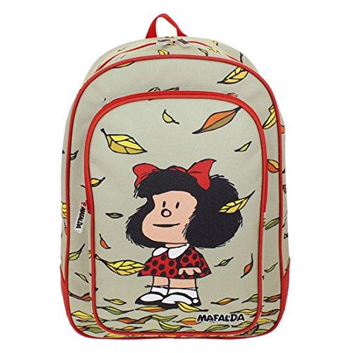 Grafoplás  09251924  Mochila Escolar Mafalda Hoja, 44 cm