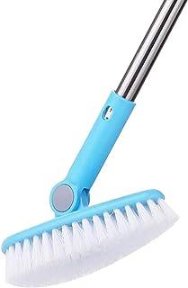 "Cepillo de Limpieza para Suelos de baño, bañera, Ducha, Azulejos, lechada, Giratorio, 6.3"" de Ancho, 35.4 cm de Largo, Man..."