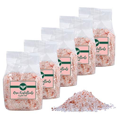 Azafran Rosa Kristallsalz (bekannt als Himalaya Salz) Steinsalz grob 2-5mm 5kg