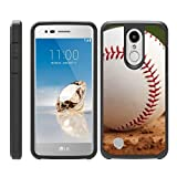 TurtleArmor   Compatible with LG Aristo 3 Case   Zone 4   Tribute Empire   Risio 3   Hard Shell Hybrid Fitted TPU Case Sports and Games - Baseball Dirt