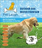 Pet Laugh Updated Version Dog Water Fountain Automatic Dog Waterer Step-on Outdoor Fresh Cold Drinking Water for Dogs, Updated Version NO Leakage at All