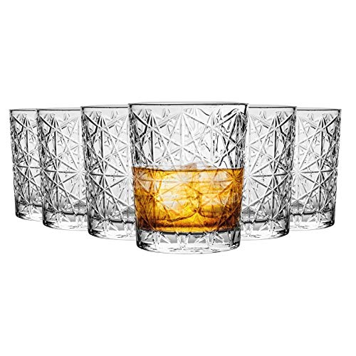 Bormioli Rocco 666223 Lounge - Vasos de whisky (cristal, 275 ml, 6...