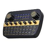 Console de Mixage Carte Audio en Direct Volume Intelligent Volume Réglable Mixer Sound Card pour Ordinateur PC pour Stage Studio (Couleur : Black, Size : One Size)