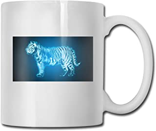 Porcelain Coffee Mug Tiger Blue Fire Ceramic Cup Tea Brewing Cups for Home Office