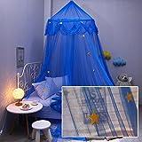 Baby Betthimmel Deko Baldachin Moskitonetz Kinder Prinzessin Spielzelte Dekoration für Kinderzimmer (Blau) - 6