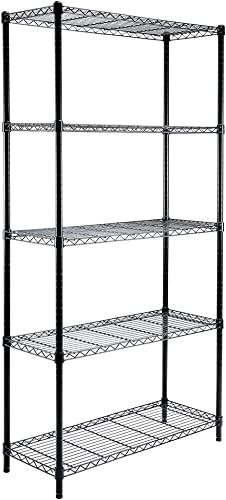 high quality EFINE 5-Shelf Shelving Unit, Adjustable, Heavy Duty sale Carbon Steel Wire Shelves, 350lbs Loading Capacity Per Shelf, Shelving Units and Storage for Kitchen and Garage (36W x discount 14D x 72H) outlet online sale