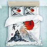 Juego de ropa de cama infantil de algodón 220 x 240 cm, impresión 3D, 3 piezas, microfibra, juego de funda nórdica con cremallera y 2 fundas de almohada de 80 x 80, para niños y niñas