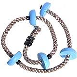 MJS Enfants Escalade Corde for Se Balancer Disque Corde d'escalade for Enfants Jardin Aire de Jeux Éclairage extérieur Équipement Balancez Jeux d'escalade Set (Couleur : Bleu)