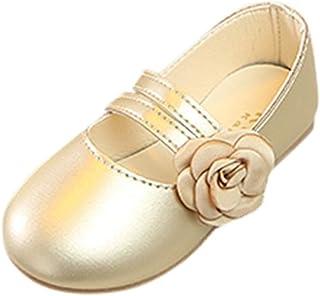 WINJIN Filles Ballerines Chaussures de Princesse Mary Jane Étudiants Chaussures Bebe Fille Chaussures De Danse Chaussures ...