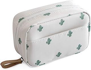 حقيبة ماكياج للسفر حقيبة مستحضرات التجميل حقيبة أدوات الزينة منظم الحقيبة محفظة اكسسوارات السفر, , صبار - Makeup Bag Cactus